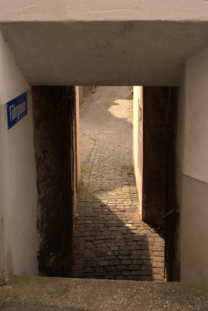 Fahrgasse or lane in Cochem-Cond, Germany