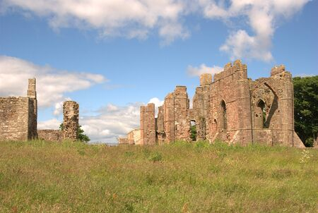 ruins of Lindisfarne Priory on a summers day