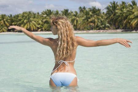 Beautiful sexy woman in bikini on the beach Stock Photo - 8784852