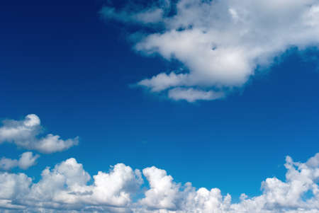 Beautiful clear blue sky and white clouds as background Stock Photo