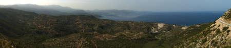 Panoramic view of Mirabello gulf. Eastern Crete, Greece