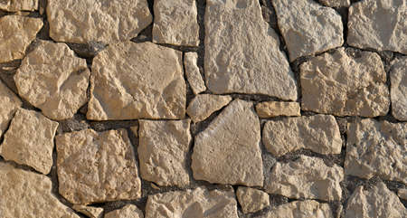 Background of decorate sandstone wall surface. Texture background