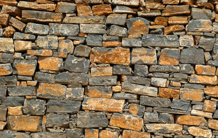 Closeup of old brick wall. Background texture Stock Photo