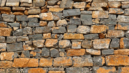 Closeup of old brick wall background texture