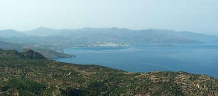 View on Mirabello Gulf. Crete. Greece