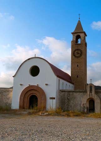 Abandoned church of Saint Mark at Rhodes island, Greece  Stock Photo