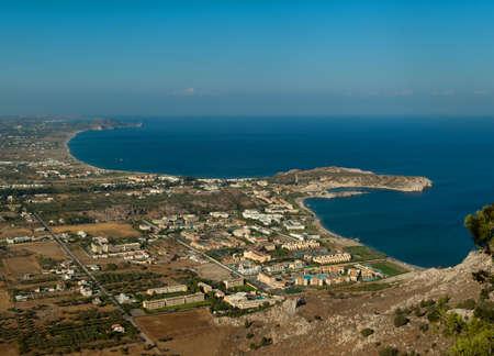 View on beautiful Kolimbia landscape  Rhodes  Greece