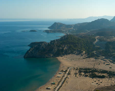 Archangelos bay and seaside view  Rhodes  Greece