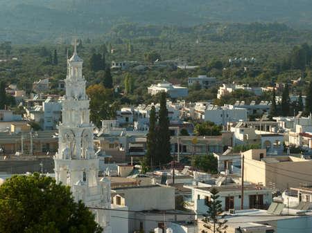 Church of the Saint Micheal archangel in Archangelos  Rhodes  Greece Stock Photo