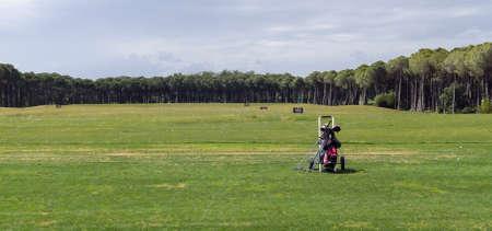 Golf training field for beginners in golf club