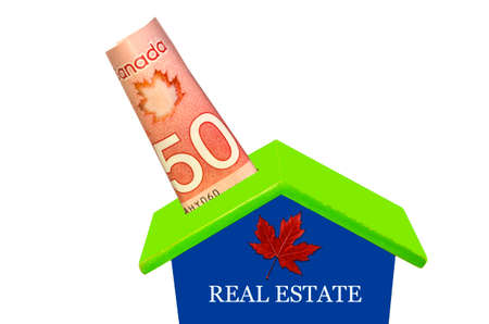 Canadian Fifty Dolars In Moneybox, Canadian Real Estate