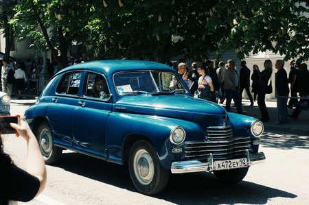 The Volga car on the victory parade in Sevastopol