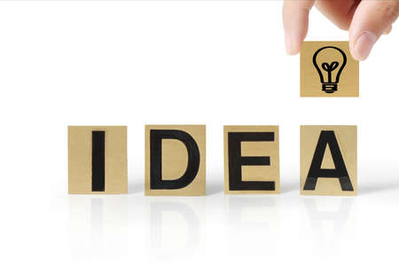 team problems: Hand and word Idea on white background Stock Photo