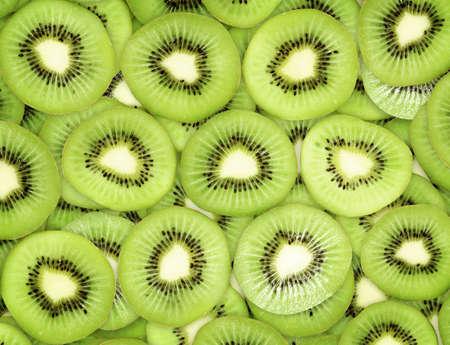 freshest: Many slices of kiwi fruit Stock Photo