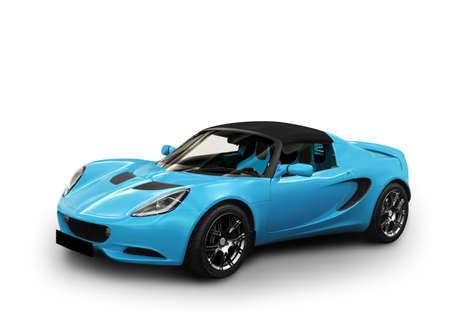 cabrio: sportwagen op een witte achtergrond