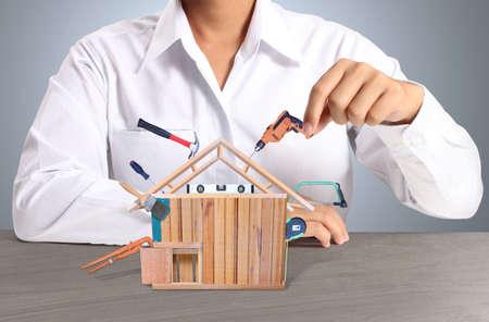 家の形でツールの選択
