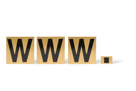 World wide web icon gold Stock Photo - 15678287