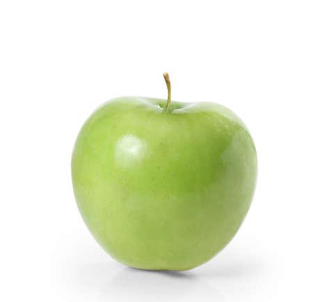 그린 애플은 흰색 배경에 고립 스톡 콘텐츠
