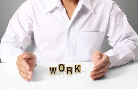 word work in hand, businessman  photo