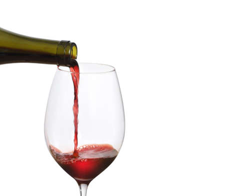 Red Wine Pouring  on a white background Stock Photo - 16011100