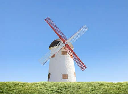 Windmills near the water in Kinderdijk  photo