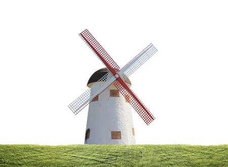 molino viento: Molinos de viento cerca del agua en Kinderdijk