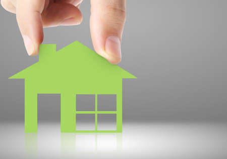 house of paper in hand businessmen Reklamní fotografie