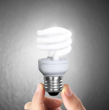 Ideas light bulb on a hand  photo