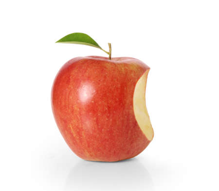 apple core: Delicious Apple on White Background