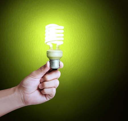 lamp light: Ideas light bulb in a hand