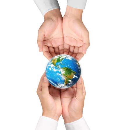 globe earth: Globe ,earth in human hand