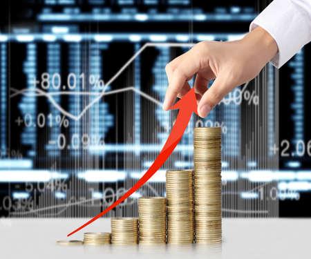 Hand gelegt Münze, Geld, Business Idee Standard-Bild - 25556076