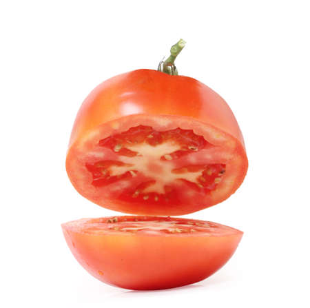 Tomatoes isolated on a white