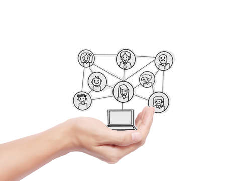 touch Screen Social Network,computer photo