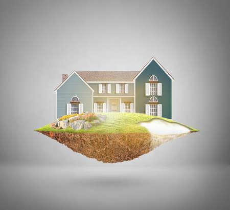 property insurance: propiedad concepto de seguros, casa de sus sue�os