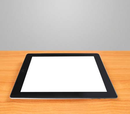 Tablet pc with white screen isolated photo