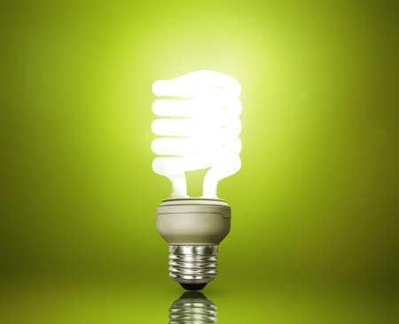 ahorro energia: Ahorro de energía bombilla fluorescente