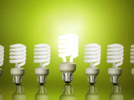 ahorro energetico: Ahorro de energ�a bombilla fluorescente