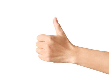 Business man hand with thumb up