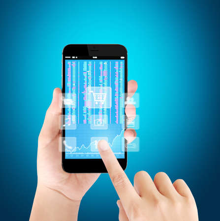 screen: Touch screen smartphone,application on a screen