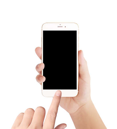 Touch-Screen-Smartphone in der Hand Standard-Bild - 43651548