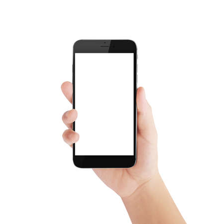 Touch-Screen-Smartphone in der Hand Standard-Bild - 44692105