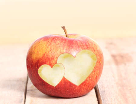 Heart Shape love and Apple Фото со стока
