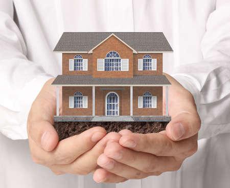 zakelijk: houden huis vertegenwoordigt eigenwoningbezit en de Real Estate
