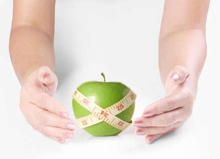 beg: Open hands Holding a apple