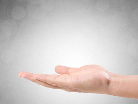 open palm: Open palm hand gesture of a hand