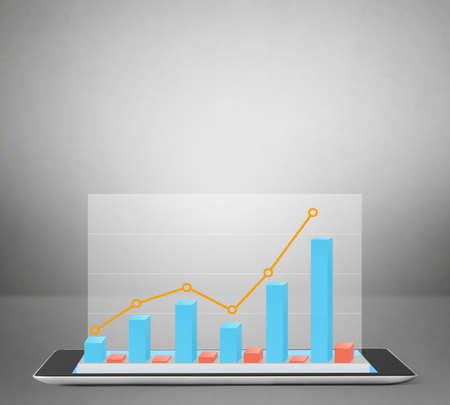 input device: Tablet computer input device ,stylish futuristic design Stock Photo