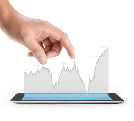 contemporary: hands holding contemporary digital tablet Stock Photo