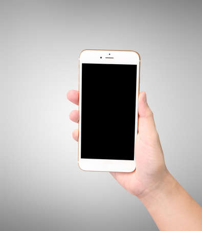 ouch: ouch screen smartphone in hand