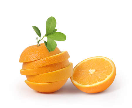 fruit Orange with a leaves isolated